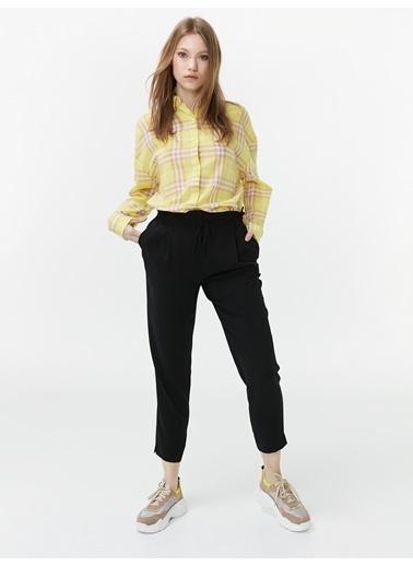 Twist Desenli Gömlek Sarı